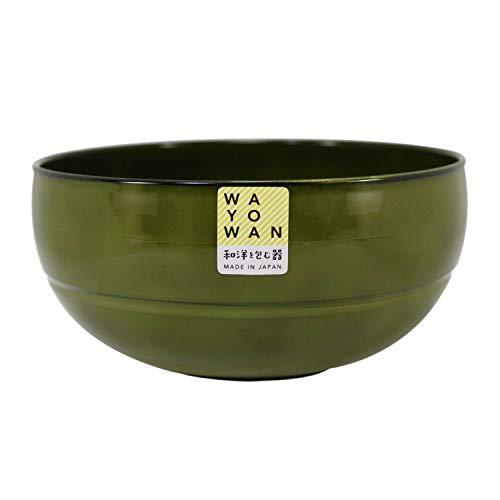 アサヒ興洋 お椀 どんぶり 丸型 WAYOWAN カーキ 約直径15×7.2cm 食洗機対応 電子レンジ対応 手になじむ 日本製 AZ18-74