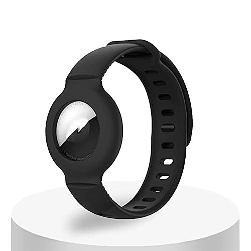 Cinturino Per Orologio Per Apple Airtag Custodia Protettiva In Silicone GPS Cinturino Per Orologio Anti-Smarrimento Per Bambini,Braccialetto Di Posizionamento Del Localizzatore Del Tracker Per Airtag