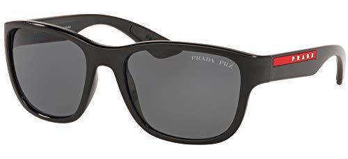 Prada Linea Rossa occhiale da sole PS 01US ACTIVE 1AB5Z1 Nero grigio taglia 59 mm Uomo