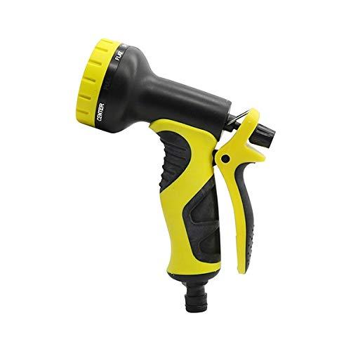 Telescópica Conector manguera de jardín Multifunción 9 Patrón de limpieza Agua Boquilla Yard Jardín de lavado de coches pistola de agua for el vehículo y jardinería de riego 1 Pc (Color : Yellow)