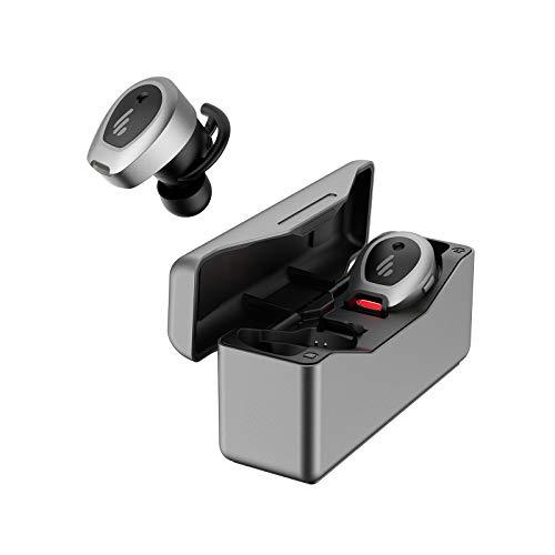 Edifier TWS NB True Wireless Active geräuschdämmende Kopfhörer, ANC-In-Ear-Ohrhörer mit Knopfsteuerung, Bluetooth 5.0 mit aptX-Unterstützung, 33 Stunden Batterielaufzeit, in grau