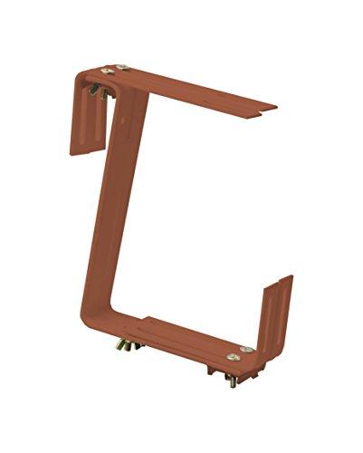 Windhager Blumenkasten-Halter für Brüstungen und Balkongeländer, 2-fach verstellbar, Tragkraft 25 kg, 19 x 17 cm, Terracotta, 05825