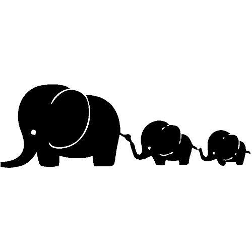 ZXiaoBai Pegatinas de Coche-Calcomanía Lindo Elefante bebé Coche Pegatina Personalidad PVC Coche Ventana Impermeable calcomanía Blanco y Negro 15cmx5cm-negro