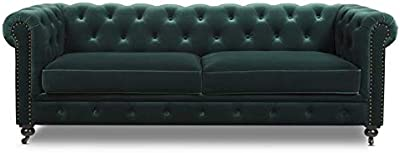 Amazon.com: Anself Artificial Bonded Leather Chesterfield 2 ...