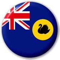 MadAboutFlags Button/Badge Flagge Fahne Australien Western Australia