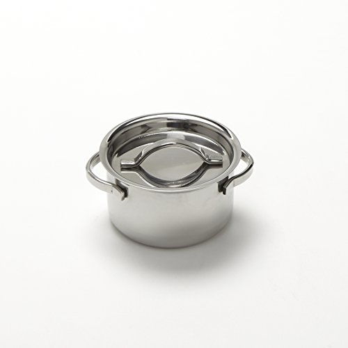 American Metalcraft MPL4 Stainless Steel Mini Pot with Lid, 4 oz.