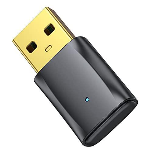 Monland B12 USB 5.0 Receptor Transmisor InaláMbrico MúSica Audio Dongle Adaptador Manos Libres para Pc Altavoz RatóN Ordenador PortáTil