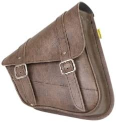 Dowco Willie Max 59779 00 Synthetic Leather Swingarm Bag Brown Fits Dual Shock Bikes Sportster product image