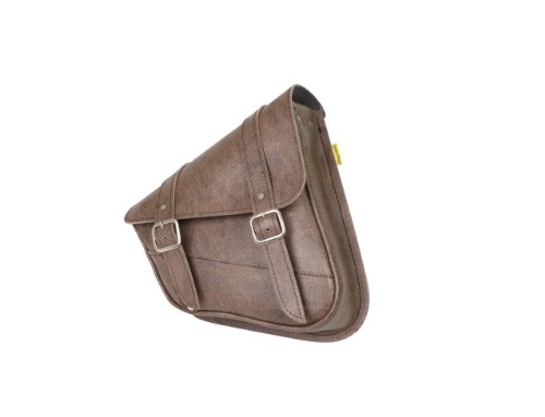 Dowco Willie & Max 59779-00 Synthetic Leather Swingarm Bag: Brown, Fits Dual Shock Bikes/Sportster/Yamaha Bolt, 9 Liter Capacity,