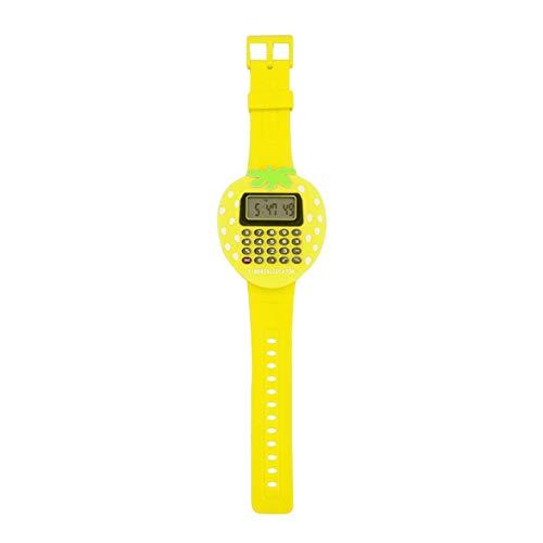 YSoutstripdu Digitaler Taschenrechner für Kinder und Studenten, Erdbeer-Armbanduhr