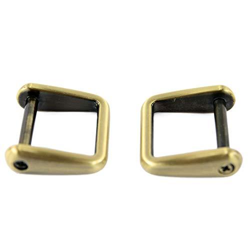 Karabiner Schultergurt Ersatzteile für Handtaschen Aktentaschen, Farbe:Messing gebürstet - 2 Stück