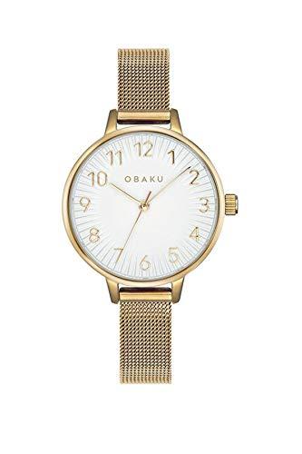 Obaku Syren V237LXGIMG Reloj de pulsera con correa de malla dorado para mujer