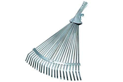 Connex Laubbesen verzinkt 22 Zinken verstellbar / Fächerbesen / Rasenbesen / Laubfächer / Laubrechen / Garten / FLOR50240
