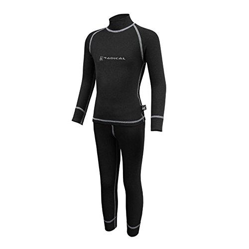 ROUGH RADICAL Kinder Funktionsunterwäsche Set Shirt & Hose Thermounterwäsche (116/122, Billy schwarz/grau)