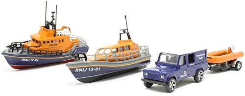 Corgi RNLI0001 RNLI Gift Set-Shannon Severn Lifeboat and Flood Rescue Team Model