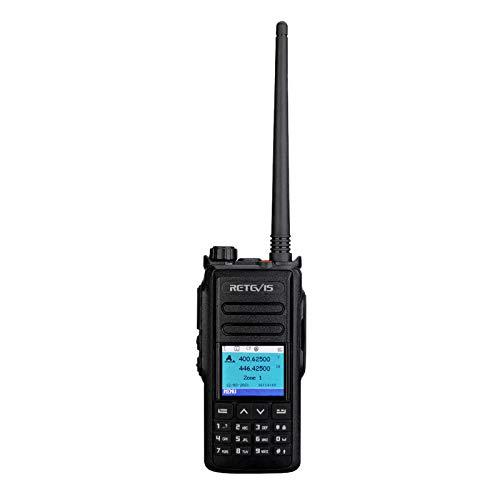 Retevis RT72 DMR Walkie Talkie, Digitales Funkgerät, Dualband-Amateurfunk, DTMF, 4000 Kanäle, Tragbares Amateur Radio mit GPS, für Amateurfunkgeräte, Ham (Schwarz, 1 Stück)