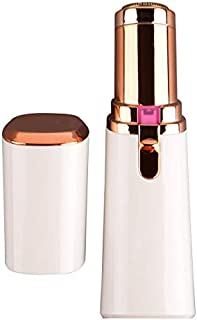 Vivitar PG-V027-WHT-WHT LED Light Painless Hair Remover, Portable And Compact Trimmer Shaver, Easy Storage And Is Travel-Friendly With Built-In LED Light For Chin Hair And Cheek Hair, Rose Gold