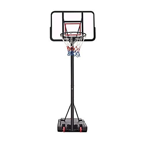 Canasta Baloncesto Aro De Baloncesto Portátil para Exteriores, Soporte De Baloncesto De Pie Ajustable De 190-305 Cm, con Tablero De PVC, para Niños Y Adultos