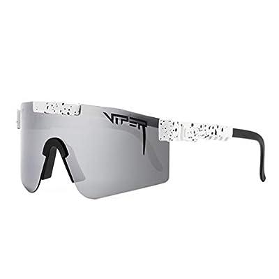 SHEMIQI Original Pit Viper Sport Google Polarized Sunglasses for Men and Women Outdoor Windproof Eyewear Uv Mirrored Lens(C17)