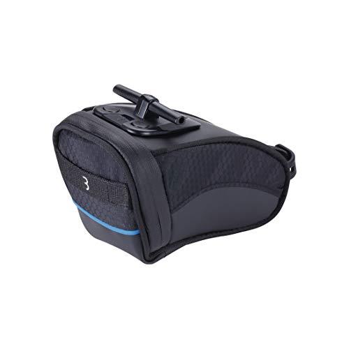 BBB Cycling Fahrrad Satteltasche für einfache Montage auf Mountainbike Rennrad und citybike, Kompakte Sattel tasche, Saddle bag, BSB-13 Curvepack, Schwarz