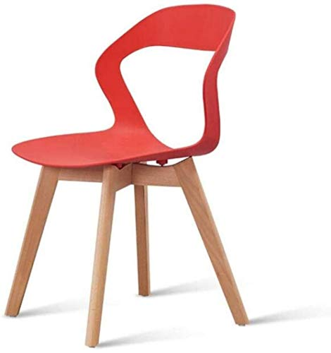 Sillas de Oficina Taburete de sillas de Comedor de Mesa nórdica de Madera sólida Dormitorio, al Aire Libre, la Silla de la Sala de Maquillaje Silla de la computadora Silla (Color : B, Size : Chair)