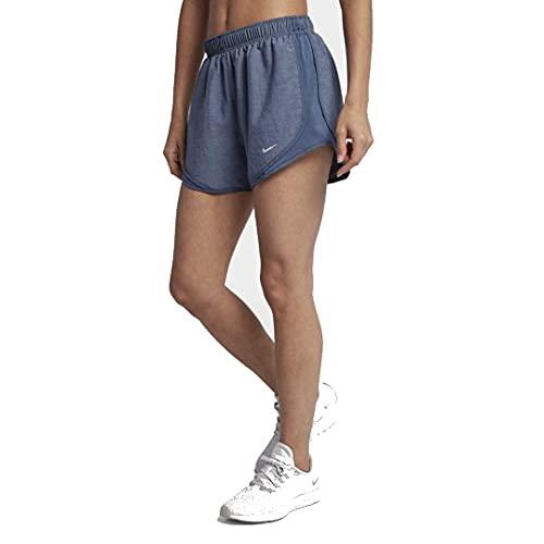 Nike Women's Dry Tempo Short, Obsidian/Diffused Blue/Wolf Grey, Medium