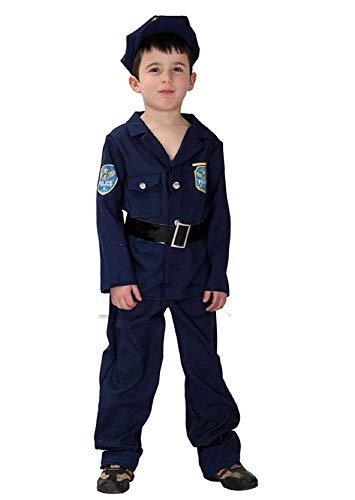 Politieagent kostuum - kinderen - maat xl - carnaval - halloween 130 140 cm - origineel idee voor een verjaardagscadeau