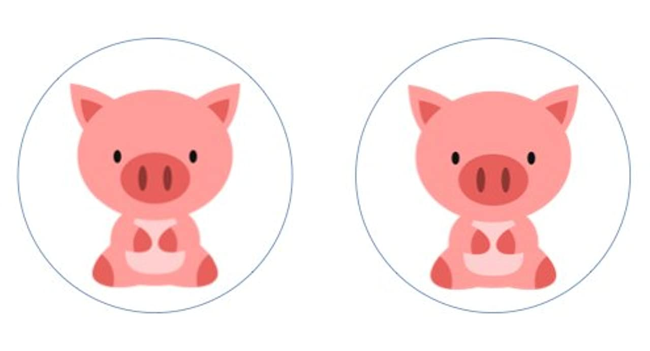 Little Pigs Edible Cupcake Toppers Decoration