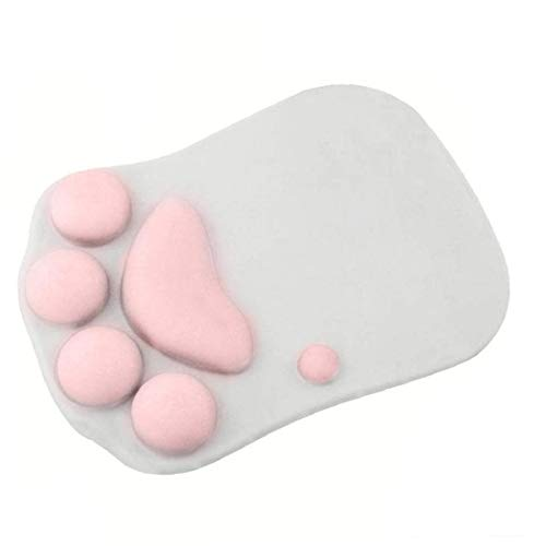 La pata del gato alfombrilla de ratón textuales, portátil ergonómico antideslizante Juego del ordenador portátil de la historieta linda de los gatos de la pata de ratón suave de silicona Mat
