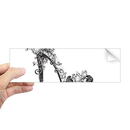 DIYthinker Hoge Hakken Schoenen Bloem Vlinder Patroon Rechthoek Bumper Sticker Notebook Window Decal
