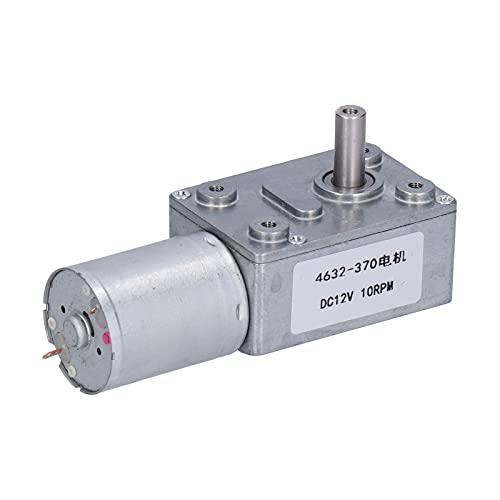 Motor de Reducción de 12 V CC 10 RPM Fuerte Autobloqueo Reversible Alto Par Turbo Turbinas Motor Eléctrico con Engranaje Helicoidal