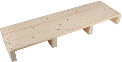 uyoyous Fuß Schemel, Fußtritt, Hocker Holz, Handarbeit Schemel mit Rutschfestem Matte für Alter Mann, Kinder und Verwundete, ca. 100X30X11 cm(LXBXH)