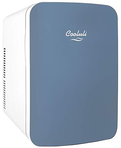 Cooluli Infinity Blue 15 Liter Compact Portable Cooler Warmer Mini Fridge for Bedroom, Office, Dorm, Car - Great for Skincare & Cosmetics (110-240V/12V)