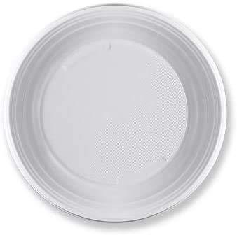 Virsus 420 piatti plastica rigida fondi 12 cf x 35 pezzi bianchi articoli per feste stoviglie Diam 21 cm