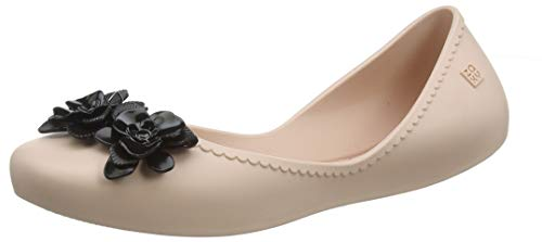 """Zaxy Ladies /""""Pop Beauty"""" Ballerinas in Ivory with Gold Heart New for 2018"""