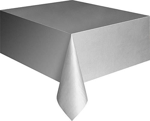 Kunststoff-Tischdecke - 2,74 m x 1,37 m - Silber
