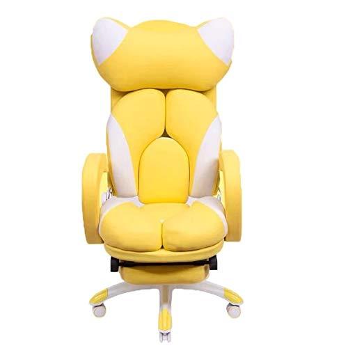GAONAN Estilo ajustable puede mentir plana juego silla del asiento reposacabezas reclinable silla ergonómica de oficina con silla reposapiés respaldo alto con soporte lumbar Altura Sedia girevole mult