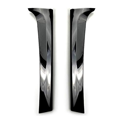 VIKEP Volver Ventana Trasera Lateral Del Alerón Del Ala Splitter Recorte En Forma For El Tiguan 2017 MK2 2018 Negro Brillante 2pcs Estilismo de coche (Color : Black)