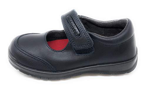 Titanitos Zapatos Colegiales Lavables niña Azul Atenea (Talla 30)
