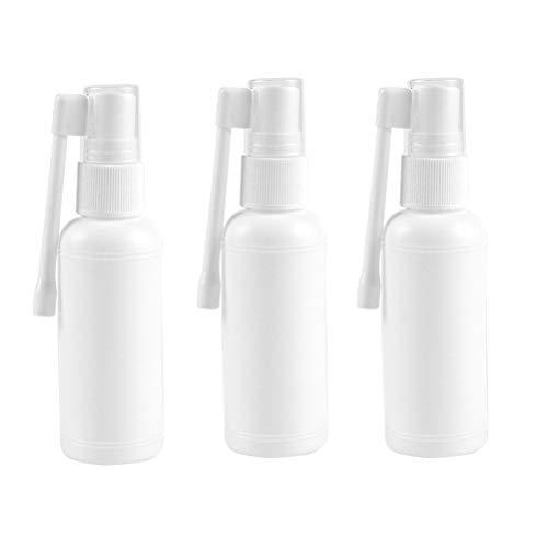 SUPVOX 10Pcs Botella del Aerosol Boquilla de Bomba Tapa Vacío Difusión Nasal Pulverización Niebla Plástico 20 ml (blanco)