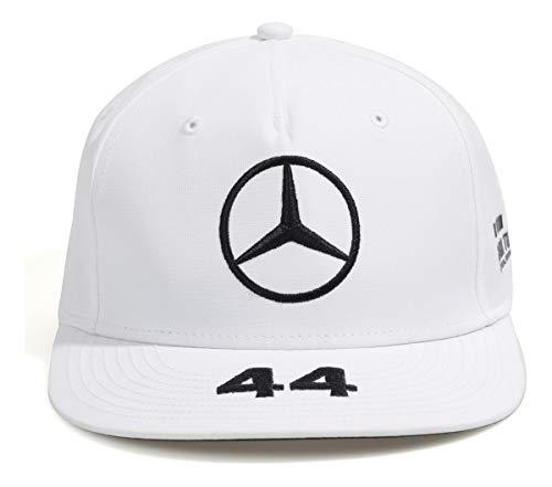 Mercedes-AMG Petronas Motorsport 2019 F1™. Lewis Hamilton Flatbrim-Kappe – Weiß