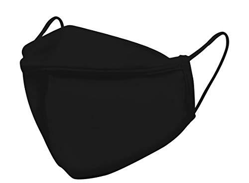 BreeSafe Antimikrobielle und waschbare Schutzmaske Schwartz