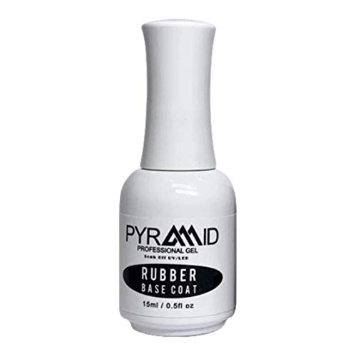 Pyramid Professional Gel Soak Off UV/LED Gel Top Base Coat Nail Polish Manicure Lacquer Matte Velvet Chrome Rubber Base (Base Coat 0.5oz)