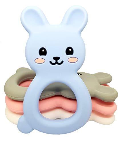 TARANTINI – Massaggia Gengive per Neonati Baby, silicone senza BPA, coniglietto in 4 colori