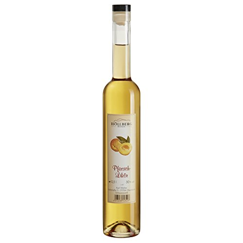 Pfirsich-Likör Höllberg 30% vol, (1 x 0.5 Liter) edler Fruchtlikör ohne Aromastoffe