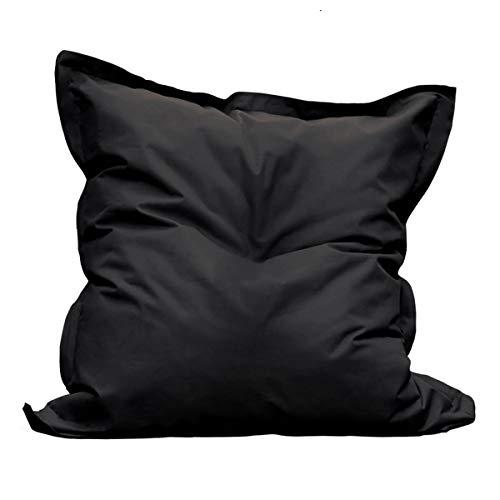 AltoBuy Square - Pouf d'Extérieur Tissu Coloris Noir