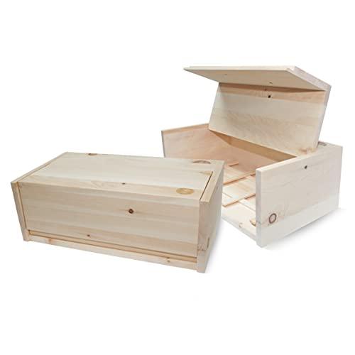 Zirben Familie - bekannt aus dem Fachhandel & der Hotellerie • Zirben-Brotkasten • Hygienische Aufbewahrungsbox 45x16x25cm aus duftendem ZirbenHolz