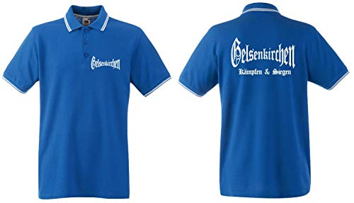 world-of-shirt / Gelsenkirchen Herren Polo-Retro Kämpfen & Siegen Ultras