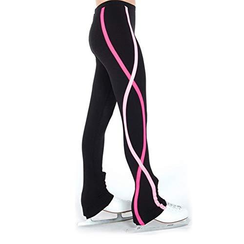 Hhwei Pantaloni da Pattinaggio sul Ghiaccio Ragazza Abbigliamento Sportivo Elastico,Rosa,165