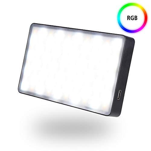 Rollei Lumen Pocket RGB LED Fotolicht I 12W LED Videoleuchte im Smartphone Format I CRI 95+, 3000K-6500K, Aluminium Gehäuse, inkl. Blitzschuh-Adapter